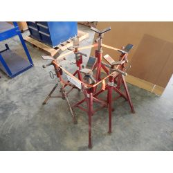 (6) ADJUSTABLE PIPE STANDS Shop Equipment