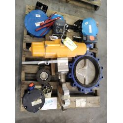 APPROX (7) Field Drioe Instruments Actuator w/Butterfly valves & Assorted Bray Butterfly valves Misc