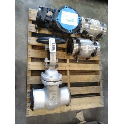"""APPROX (1)  6"""" Gate valve, APPROX (2) 3"""" Ball valves, APPROX (1) 6"""" Plug valve Miscellaneous"""