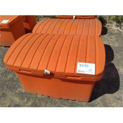 "3 - Heavy duty plastic storage containers 23"" W x 44""L x 25"" D Miscellaneous"