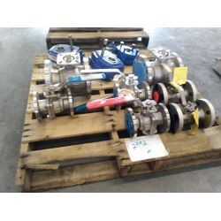 APPROX (3) Gear boxes, APPROX (7) Misc. Ball valves Miscellaneous