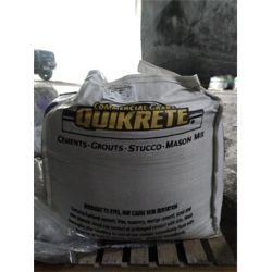 3,000 LB SUPER SACK OF COMMERCIAL GRADE QUIKRETE CONTAINS PORTLAND CEMENT 10 PER LOT  Miscellaneous