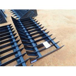 ROOT RAKE Skid Steer Attachment