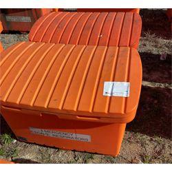 "2-Heavy duty plastic storage containers 23"" W x 44""L x 25"" D Miscellaneous"