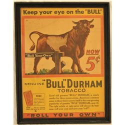 Bull Durham Advertising Poster