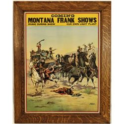 Montana Frank Wild West Lithograph