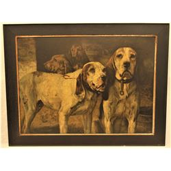 Winchester  Bear Dogs  Advertising Lithograph