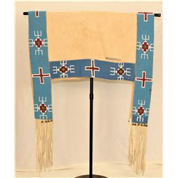 Sioux Beaded Hide Saddle Blanket
