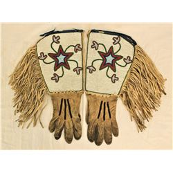 Blackfoot Beaded Gauntlets