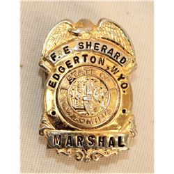 Wyoming Marshall's Badge