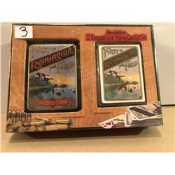 AMMO: REMINGTON GIFT SET UNOPENED- 200 X .22 LR & DECK OF CARDS