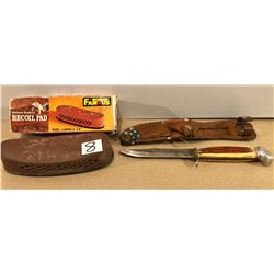 GR OF 2, HUNTING KNIFE & RECOIL PAD