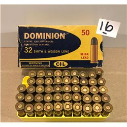 AMMO: 48 X .32 S&W LONG 98 GR