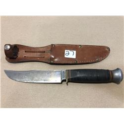 """SOLINGEN HUNTING KNIFE - 5"""" BLADE WITH LEATHER SHEATH"""