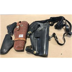 4 X LEATHER HOLSTERS