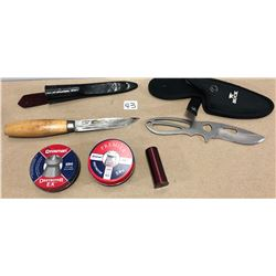 BUCK KNIFE, SANDVIK KNIFE & .177 PELLETS