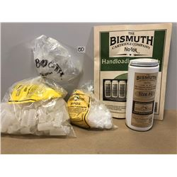 BISMUTH RELOADING LOT WITH NO. 4 SHOT & 12 GA SHOT CUPS