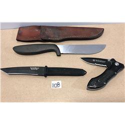 3 X HUNTING KNIVES