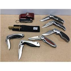 8 X FOLDING KNIVES