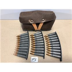 AMMO: 39 ROUNDS 7.62 X .39 IN POUCH