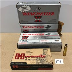 BRASS: 80 X .204 RUGER - ONCE FIRED