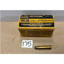 AMMO: 50 X .25 STEVENS LONG 65 GR - VINTAGE BOX