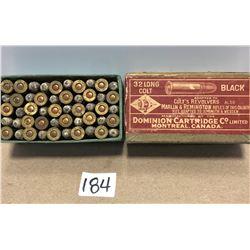 AMMO: 50 X .32 LONG COLT - VINTAGE BOX