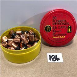 50 X .9 MM FLOBERT BB CAPS