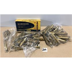 BRASS: MISC LOT INCLUDING .30-30 & .30-06