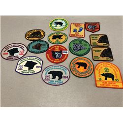 1985-96 BLACK BEAR HUNTER BADGES