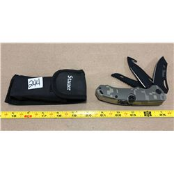 STAUER UTILITY KNIFE WITH POUCH