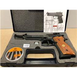 BERETTA MODEL 92FS .177 PELLET GUN WITH WALNUT GRIPS - LIKE NEW