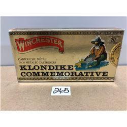 AMMO: 20 X WINCHESTER KLONDIKE .30-30 170 GRAIN - SEALED BOX