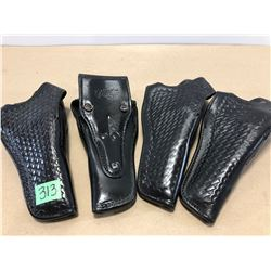4 X NORTHERN PLAINS LEATHER HOLSTERS