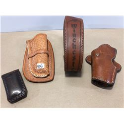 GR OF 4 LEATHER ACCESSORIES