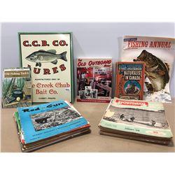 BOX LOT OF FISHING PUBLICATIONS