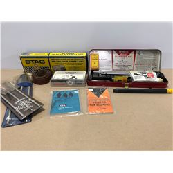 BOX LOT OF GUN CLEANING KITS + EXTRAS