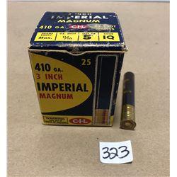 "AMMO: 25 X 410 GA 3"" 5 SHOT"
