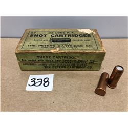 AMMO: 50 X PETERS .32 LONG R.F. SHOT IN VINTAGE BOX