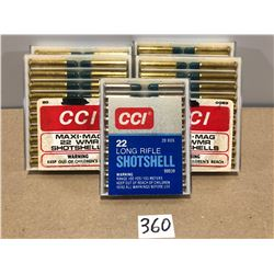 AMMO: 80 X .22 WMR & .20 .22 LR SHOT SHELLS