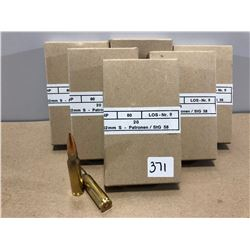 AMMO:  120 X 7.62 - MILITARY ISSUE