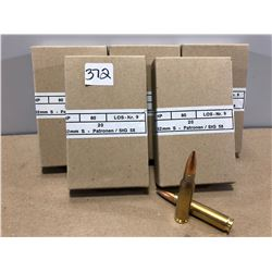 AMMO:  100 X 7.62 - MILITARY ISSUE