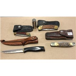 4 X FOLDING HUNTING KNIVES