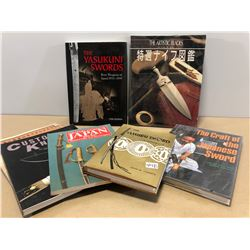 7 X JAPANESE SWORD & KNIVES REFERENCE BOOKS