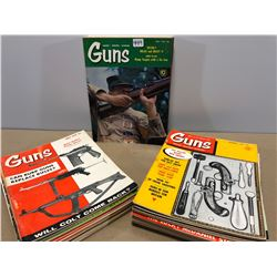 36 ISSUES OF GUNS MAGAZINES FROM 1956 TO 1967