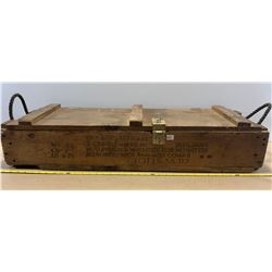 LARGE ANTIQUE AMMO CRATE - GOOD DECAL