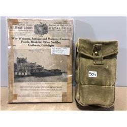 1936 BANNERMAN CATALOGUE & CANVAS MILITARY PACK BAG