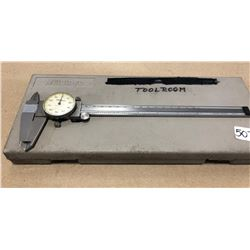 "MITUTOYO PRECISION 8"" DIAL CALIPERS - WORKING W / CASE"