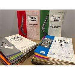 BOX LOT 0F 1980 GUN REPORT MAGAZINES