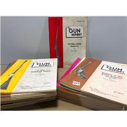 BOX LOT 0F 1970 GUN REPORT MAGAZINES